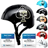 Skullcap BMX Helm - Skaterhelm - Fahrradhelm - Herren Damen Jungs...