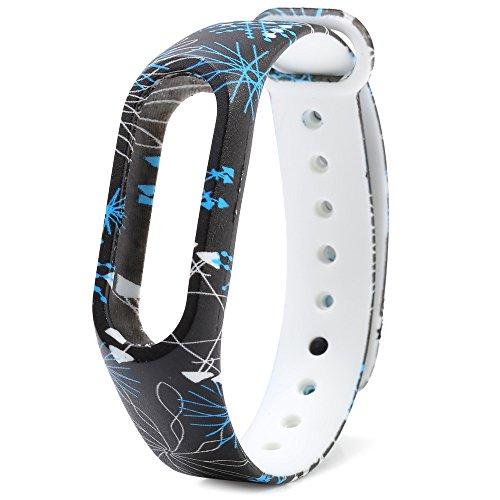 Huihong Xiaomi MI Band 2 Armband, Fitness-Armband Neue Art und Weise Muster TPU Handgelenk-Bügel ersatzband uhrenarmband für Xiaomi Mi Band 2 (No Watch) (C)