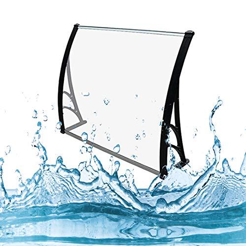 Auvent de Porte Entrée Marquise QIANDA Transparent Plaques en Polycarbonate Couverture Fenêtre Pluie Neige Protection Store Abri - des Tailles Différentes (Size : 120cmx60cm)