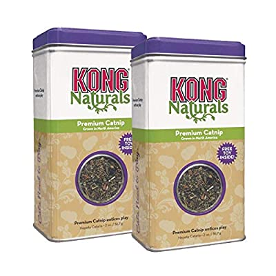 KONG - Naturals Premium Catnip - Premium North American Grown - 2 Ounce (2 Pack)