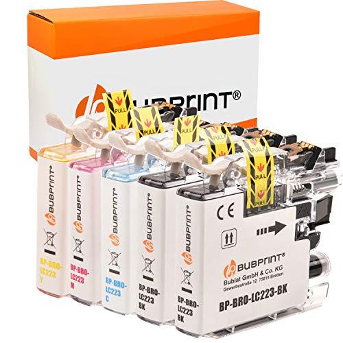 Bubprint Cartuchos de Impresora Compatible con Brother LC-223 XXL LC-227 LC-225 con Chip DCP-J4120 DW, MFC J4420 DW,MFC J4425 J4620 J4625 J5320 DW,MFC-J5600,MFC-J5620 DW,MFC-J5625 J5720 DW - 5er Set