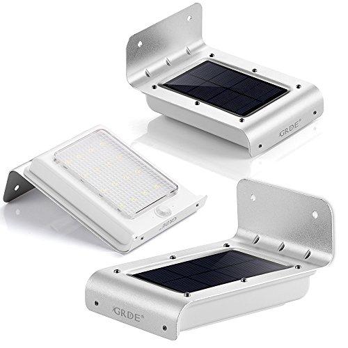 Lámpara Solar LED GRDE [3 Packs] Aplique 16 LED de Pared con...