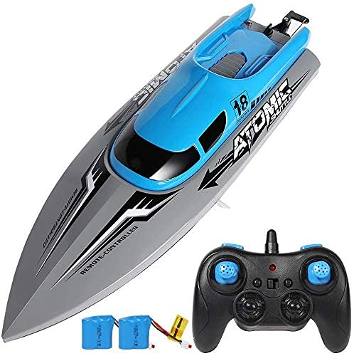 MSLAN 2.4G Wireless Remote Control Ship, Dual-Motor Circulating Water-Cooled High-Speed Speed Ship,for Racing RC Ship for River Lake or Pool Outdoor Radio Controlled Watercraft Ship