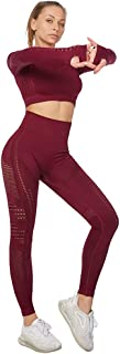 Jamron Dam Stretch-Fit Yoga Kläduppsättning Magtröja + Leggings 2PCS/3PCS Träningsoverall Fitness Activewear SN05405