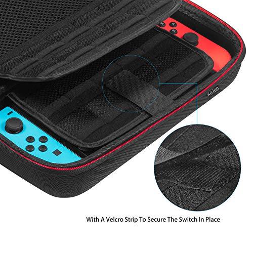 Keten Tasche für Nintendo Switch, Tragetasche für die Nintendo Switch Konsole, Spiele, Joy-Con und Anderes Nintendo Switch Zubehör