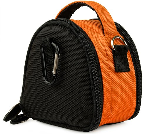 Premium Laurel Shoulder Carrying Bag with Extra Pockets (Orange) for Canon Power Shot HS A Series Powershot Point and Shoot Digital Camera