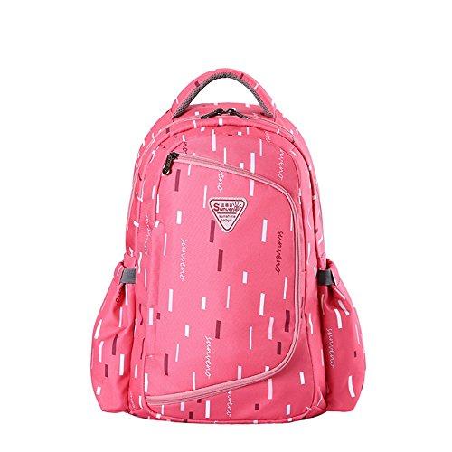 Sac multifonctionnel à grande capacité pour les épaules, sac de maman, sac de bébé mère, sac de momie de mode, sac à dos ( Couleur : Rose red )