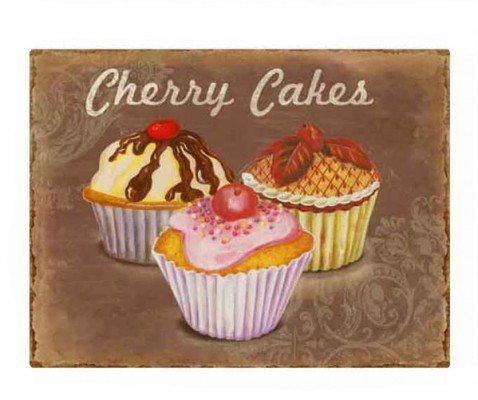 La Finesse Nostalgie Schild Cherry Cakes Retroschild Metall