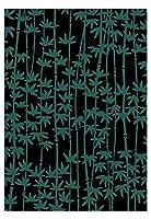 梨園染 手ぬぐい 注染 綿100% 日本製 竹文様(黒)