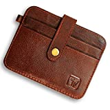 Fashion Freak Leather Credit Card Holder -Slim Minimalist Front Pocket RFID Blocking Leather