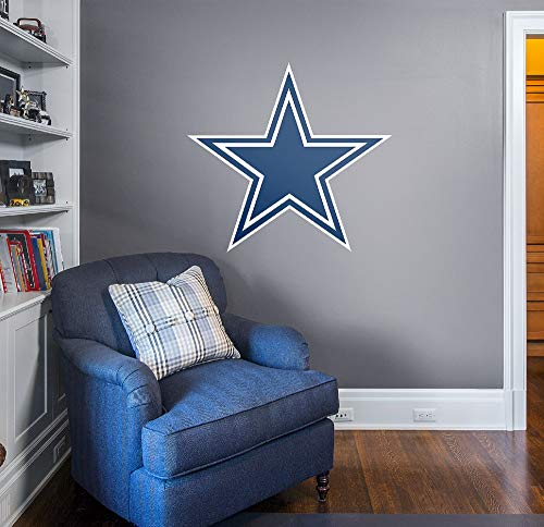 Fathead NFL Dallas Cowboys Officially Licensed Logo Removable Wall Decal, Multicolor, Giant - 14-14011