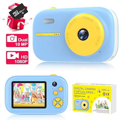 EUTOYZ Kinder Kamera 1080P/Autofokus/Videoaufzeichnung/ 32G TF Karte - Geschenke & Spielzeuge