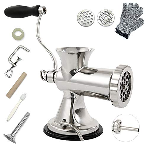 TUNTROL 304 Stainless Steel Manual Meat Grinder,Sausage...