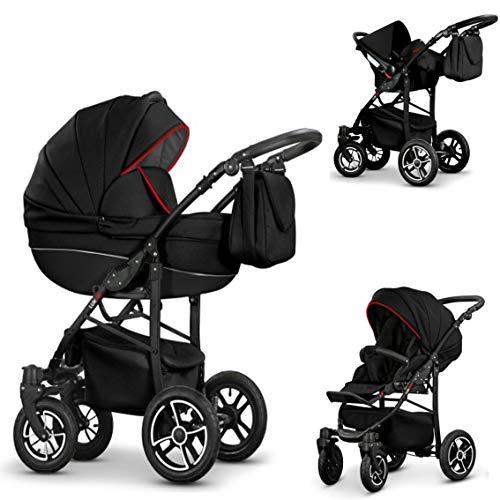3 in 1 Kinderwagenset COSMO-DELUXE in 30 Farben - Mega-Ausstattung - all inklusive Paket