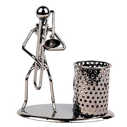 Stift Container Halter Bleistift Cup Eisen Art Musik Figur ~ HOME OFFICE Schreibtisch Decor Geschenk Trombone