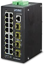 Planet Technology USA IGS-20040MT L2+ Industrial 16-Port 10/100/1000T + 4 100/1000X SFP Managed Switch