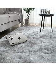 カーペット SpyFlyLie 洗えるラグ 北欧 長方形 ラグマット極厚毛足約4.0cm 絨毯 防ダニ 滑り止め付 抗菌 防臭 ふわふわ 秋冬 冷房 床暖房対応