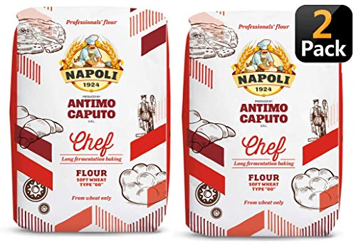 Antimo Caputo Chefs Flour 2.2 Pound (Pack of 2) - Italian Double Zero 00 - Soft Wheat for Pizza Dough, Bread, & Pasta