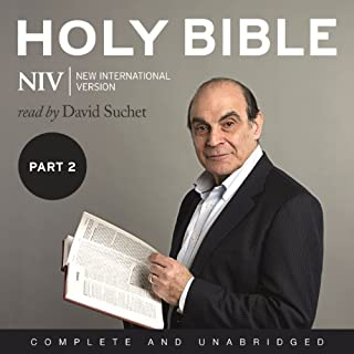 Complete NIV Audio Bible, Volume 2: Prophets, Gospels, Acts and Letters                   By:                                                                                                                                 New International Version                               Narrated by:                                                                                                                                 David Suchet                      Length: 37 hrs and 22 mins     173 ratings     Overall 4.5