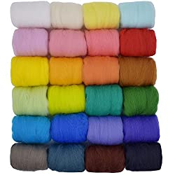 Wool roving.