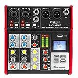 Studio Audio Sound Mixer Board - 4 Channel Bluetooth Compatible Professional Portable Digital Dj...
