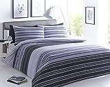 Juego de Cama Individual de Sleep Down, algodón poliéster, Negro, Gris, Doublé