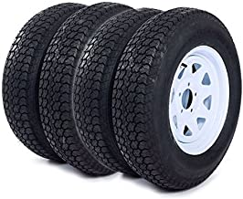 Roadstar 4pcs 205 75 15 Trailer Tire and Rim 205/75-15 with Bias 15