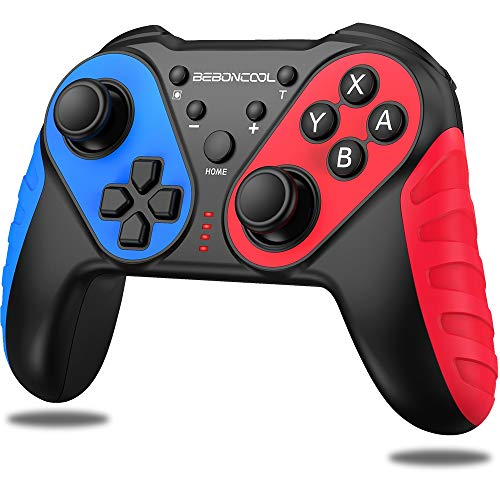 Switch Controller, BEBONCOOL Switch Pro Controller for Nintendo Switch / Switch Lite, Replacement for Nintendo Switch Controller, Wireless Switch Controller With Auto Turbo Motion, Vibration