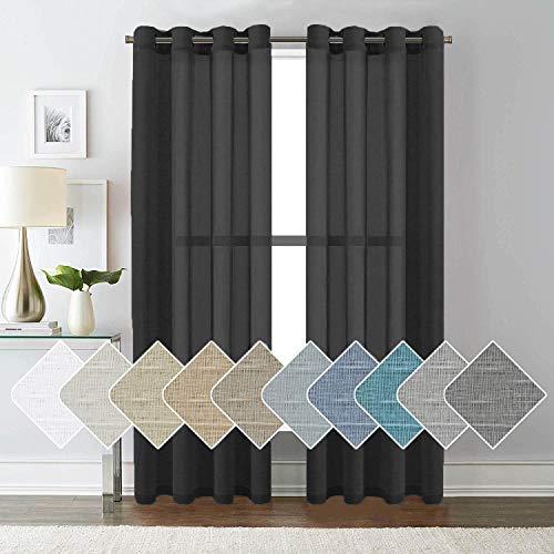 cortinas negras para habitación
