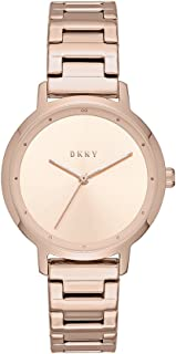 Women's The Modernist Analog-Quartz Watch with Stainless-Steel Strap, Rose Gold, 14 (Model: NY2637)