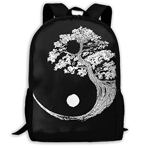 sghshsgh Mochilas Tipo Casual,Yin Yang Bonsai Tree School Backpack Oxford Casual Outdoor Rucksack For Teen Boys Girls College Student, Multipurpose Shoulders Bag Gift
