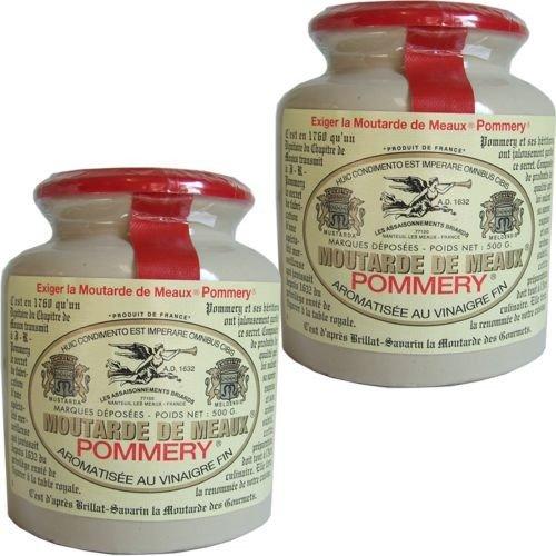 Pommery Senf körnig im Steinguttopf 2 x 500g