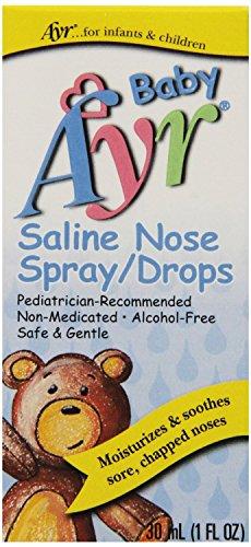 Ayr Baby Saline Nose Spray/Drops, 6 Count