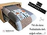 molo Stoffe DIY Krabbeldecke Nähpaket Waldtiere Grau Braun