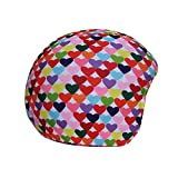 Cool Casc Cœurs Couleurs Couvre Casque Mixte Enfant, Multicolore