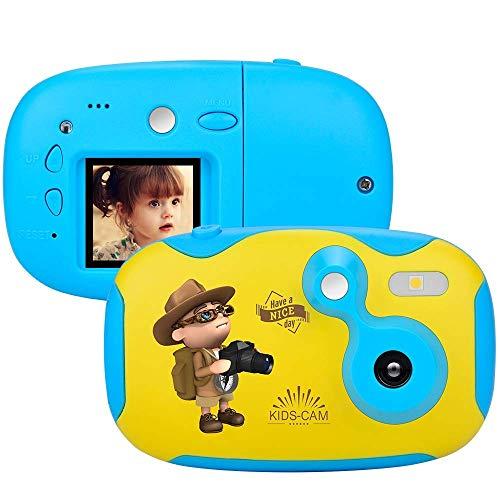 1,44 pulgadas de la cámara de vídeo digital creativa de la cámara de bricolaje for Niños con Shell protector de silicona suave deporte de 1080P HD Aprender videocámara mini cámara de regalos de los mu
