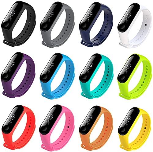 Kit com 12 pulseiras coloridas diferentes para mi band 3 ou 4 [Sky Dreams]