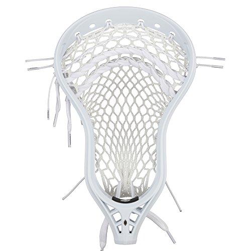 StringKing Men's Mark 2D Defense Lacrosse Head Strung with Type 4s Mesh (White/White)