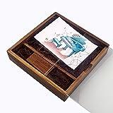 LUCKCRAZY Memoria USB de 16 GB para cumpleaños, boda, nuez, regalo de madera, USB 2.0, con caja de regalo