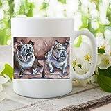 Lustige Tasse mit englischer Bulldogge, 325 ml