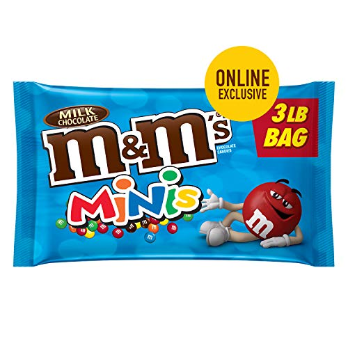 M&M'S Minis Milk Chocolate Candy 3-lb. Bulk Candy Bag