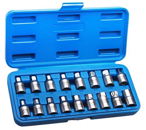 Öldienstschlüssel Set 17tlg Ölablass Schrauben Werkzeug
