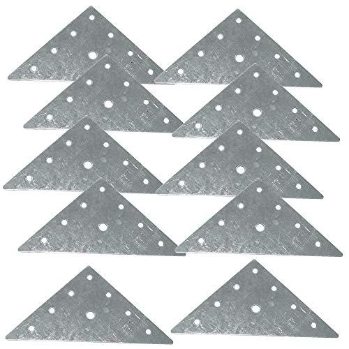 AERZETIX: 10x Placa triangular de montaje fijación instalación 90х90х1mm para mueble armario de cocina C41432