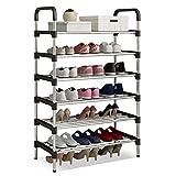 UDEAR Shoe Rack 6-Tiers Shoe Storage Organizer Black 56 * 30 * 110
