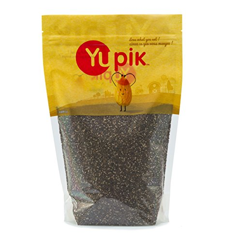 Yupik Natural Black Chia Seeds, 1Kg - Package may vary