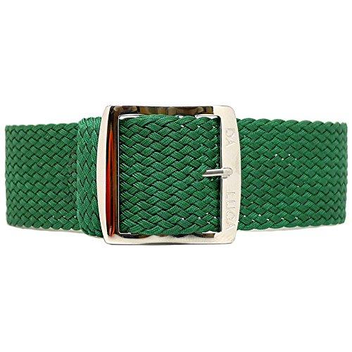 DaLuca - Cinturino per orologio in nylon intrecciato perlon – verde...