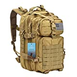 Prospo 40L Military Tactical Shoulder Backpack Assault Survival Molle Bag Pack Fishing Backpack for Tackle Storage