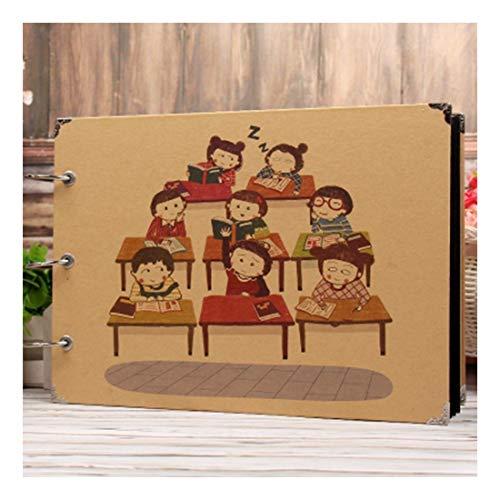 ZHAOXIANGXIANG 1Pz 10 Pollici Tipo Appiccicoso Photo Album Infanzia Annuario DIY Possono Mettere 1-8 Pollici Foto Memorie Handmade Craft,6