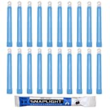 Cyalume SnapLight Blue Glow Sticks – 6 Inch Industrial Grade, High Intensity Light Sticks with 8 Hour Duration (Pack of 20)