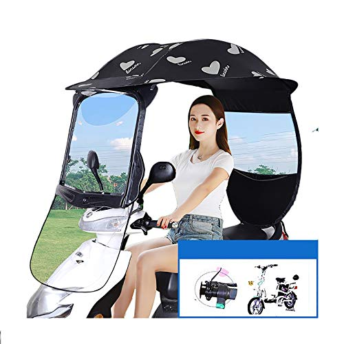 Scooter Rain Cover, Suitable For Electric Vehicles Without Rearview Mirrors, Used For Sheltering From Wind, Rain And Sun (Color : D)